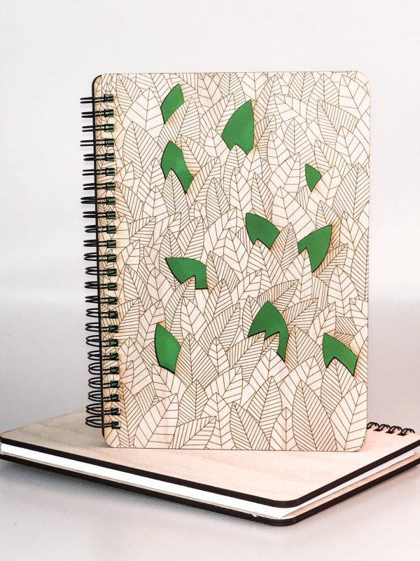 Drevený zápisník - džungľa
