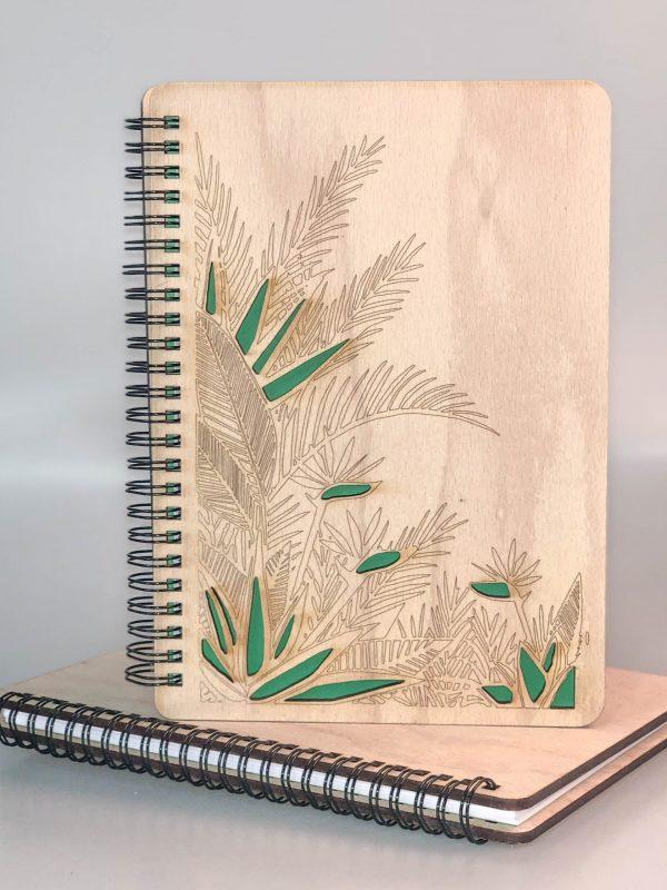 Drevený zápisník - listy